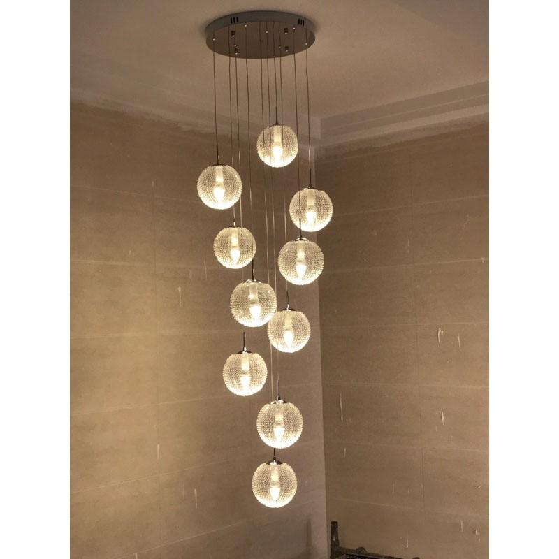 glass ball lighting. Modern Large LED Chandeliers Stair Long Globe Glass Ball Ceiling Lamp With  10 Balls Light Fitting Fixture Avize Home Lighting-in From Lights Glass Ball Lighting T