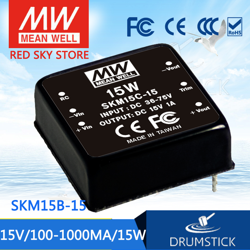 цена на Advantages MEAN WELL SKM15B-15 15V 1000mA meanwell SKM15 15V 15W DC-DC Regulated Single Output Converter
