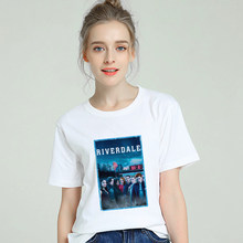 Riverdale TV Tumblr T shirt Women Cotton Harajuku Aesthetic 2019 Short Sleeve Cool Tshirt Plus Size Gothic Femme Top Tee Clothes(China)