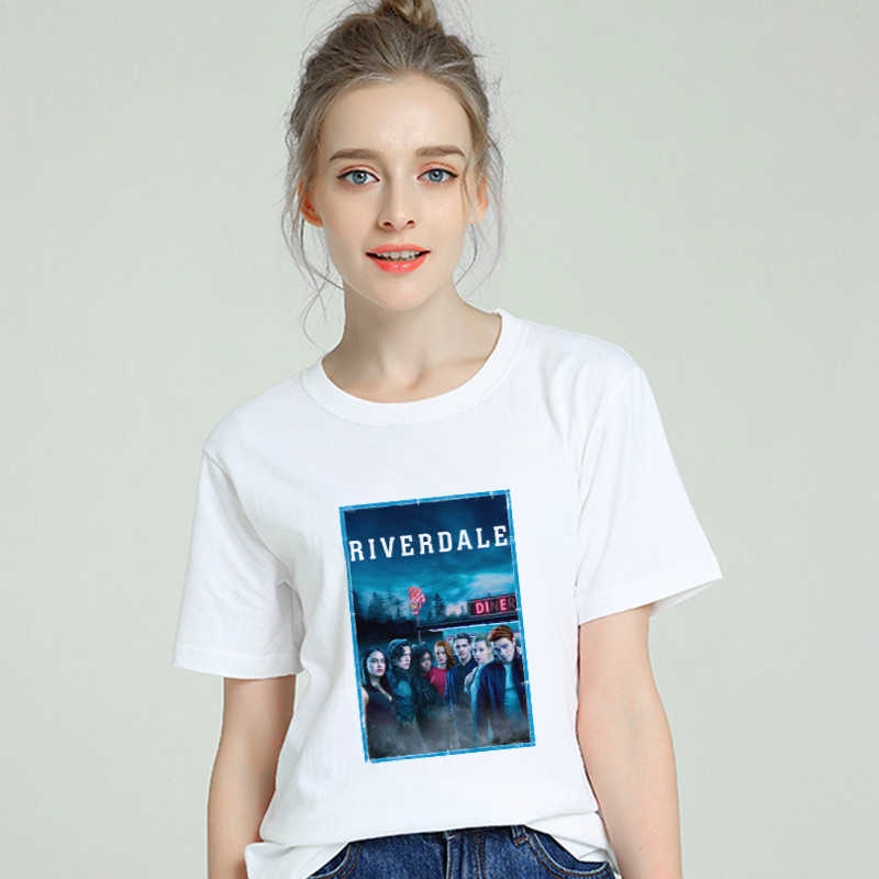 Riverdale TV Tumblr T shirt Women Cotton Harajuku Aesthetic 2019 Short Sleeve Cool Tshirt Plus Size Gothic Femme Top Tee Clothes