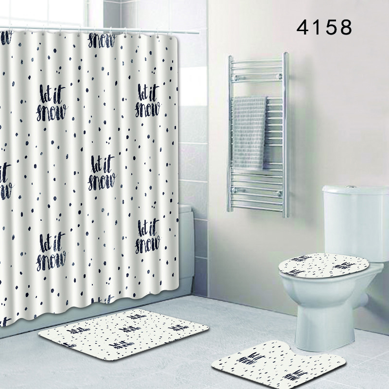 Marvelous Us 26 77 7 Off Nordic Simple Toilet Mat Accessories For Home Decor India Waterproof Bathroom Shower Curtain And Rug Sets 4Pcs Set 3D Bath Mat In Download Free Architecture Designs Philgrimeyleaguecom