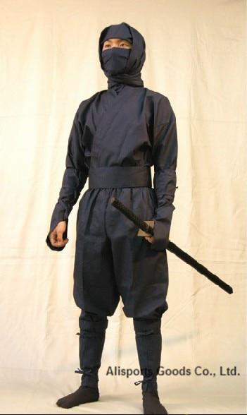 Ən keyfiyyətli Qara Ninja Uniforma kostyum Üst şalvar maskası - Fitness və bodibildinq - Fotoqrafiya 2