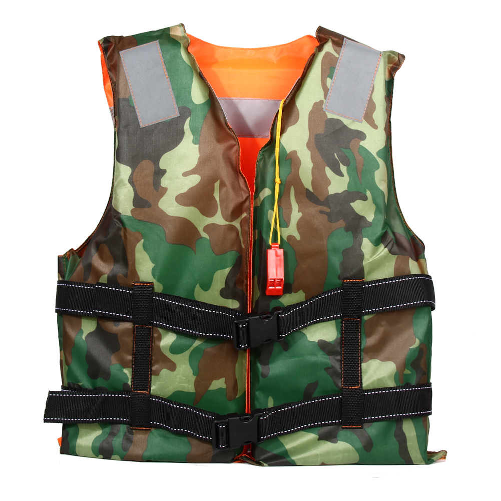 Adult Swimming Life Jacket Vest Foam Boating Ski Fishing Drifting Safety Jackets Camouflage Double Side Life Vest With Whistle 2 colors child life vest jackets fishing life saving vest inflatable life jacket for boating and drifting water skiing upstream