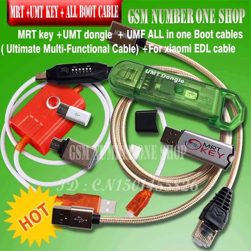 mrt key 2 mrt dongle 2 / mrt tool 2 + umt dongle + umf all in one boot cable ( Ultimate Multi-Functional )+ for xiaomi edl cable(China)