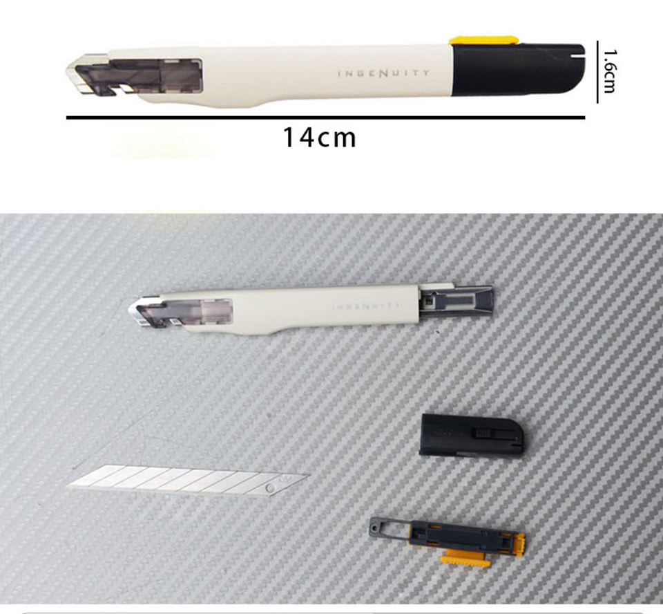 SDI Procision Cutter Auto Lock Paper Cutter 9mm Stainless Steel Knife For Car Wrap SDI0443C in Car Stickers from Automobiles Motorcycles
