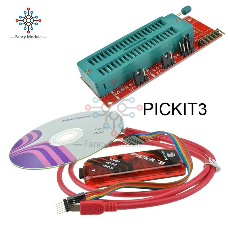 1set PICKIT3 PICKIT2 Programmer + PIC ICD2 PICKit 2 PICKIT 3 Programming Adapter Universal Programmer Seat