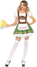 Women Oktoberfest Lederhosen Strappy Outfit Dress Bavaria Beer Party Costume