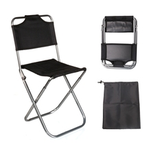 Brand High Quality Black Aluminum Folding Grill Portable Stool Chair Fishing Chairs Bag Outdoor Travel Fishing Foldable Chair