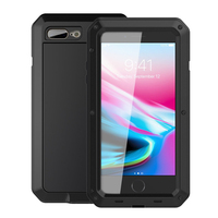 Luxury Metal Case For Iphone 8 Armor Outdoor Shockproof Aluminum Life Waterproof Case 8g 8 Plus