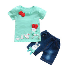 2pcs sets cotton summer clothes for girls