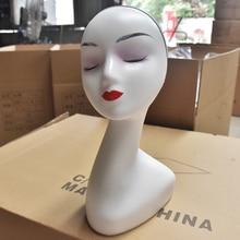 Mannequin Head White Color Female Hat Display Wig Training Head Model Head Manikin Model Femen's Head Model