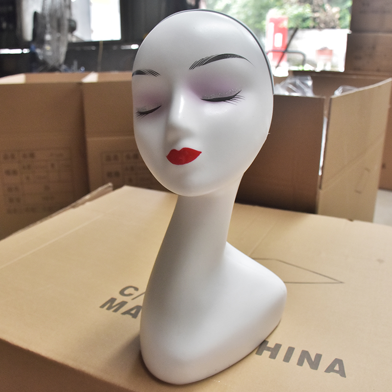 Tête de Mannequin couleur blanche femme chapeau affichage perruque tête d'entraînement modèle de tête Mannequin modèle de tête de femme