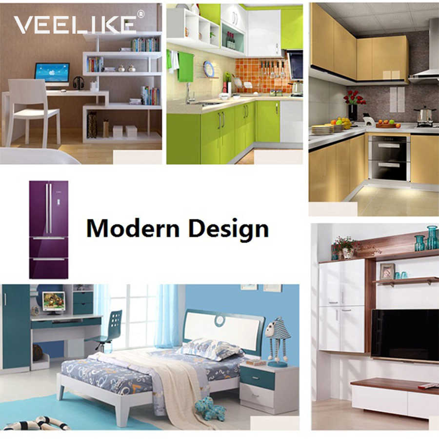 Waterproof Pvc Self Adhesive Wallpaper For Kitchen Cabinets Cover Cupboard Furniture Decor Shelf Liner Adhesive Contact Paper