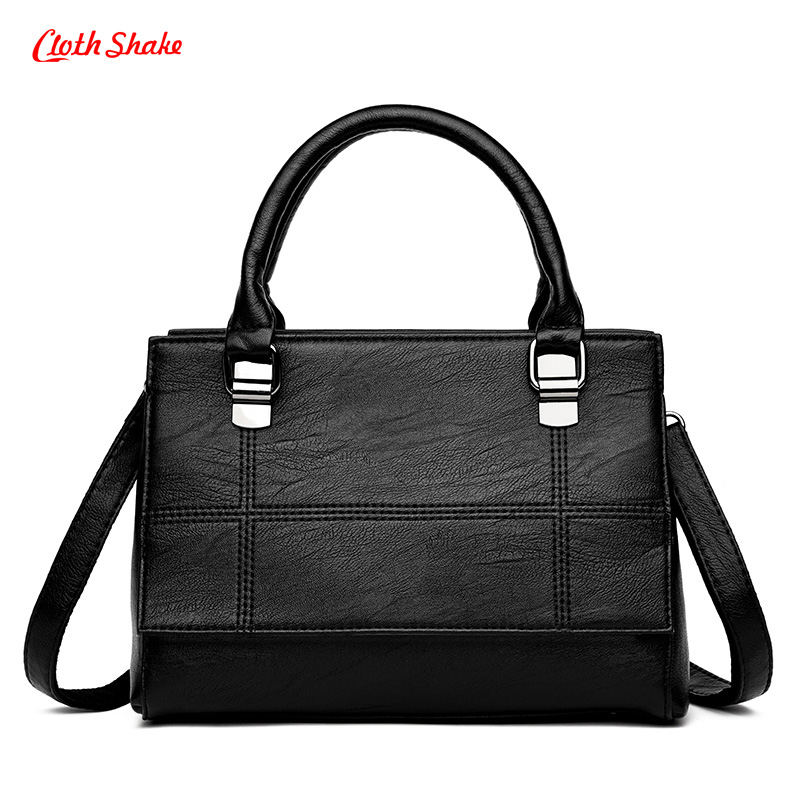 High Quality Women Fashion Patchwork Handbag Female PU Leather Shoulder Bags Large Capacity Ladies Tote Bag Female Crossbody Bag 2018 new women bag ladies shoulder bag high quality pu leather ladies handbag large capacity tote big female shopping bag ll491