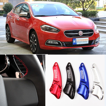 tommia For Fiat Viaggio 2012-2017 2pcs Steering Wheel Aluminum Shift Paddle Shifter Extension Car-styling