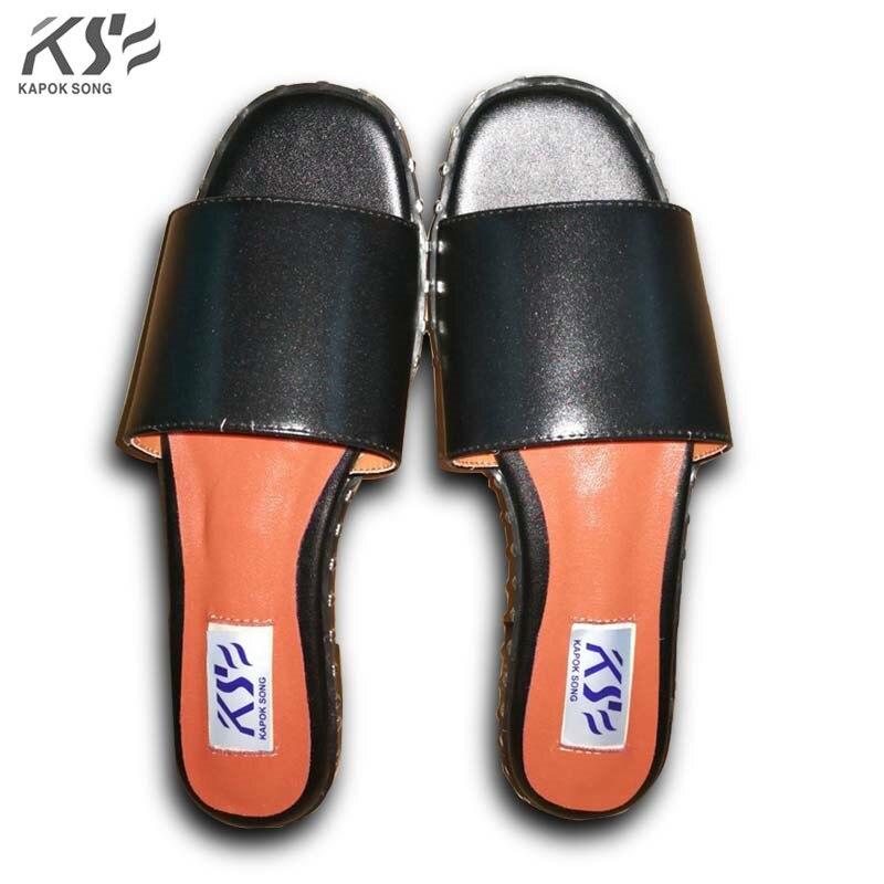 really leather rivet sandals women shoes luxury designer model slipper genuine cow lady shoes v excellent slipper mnixuan  women slipper sandals genuine