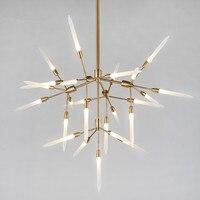 New Modern Nordic LED Chandelier For Living Room Dinning Room Office Haning Lamp Lustre Villa Lamps