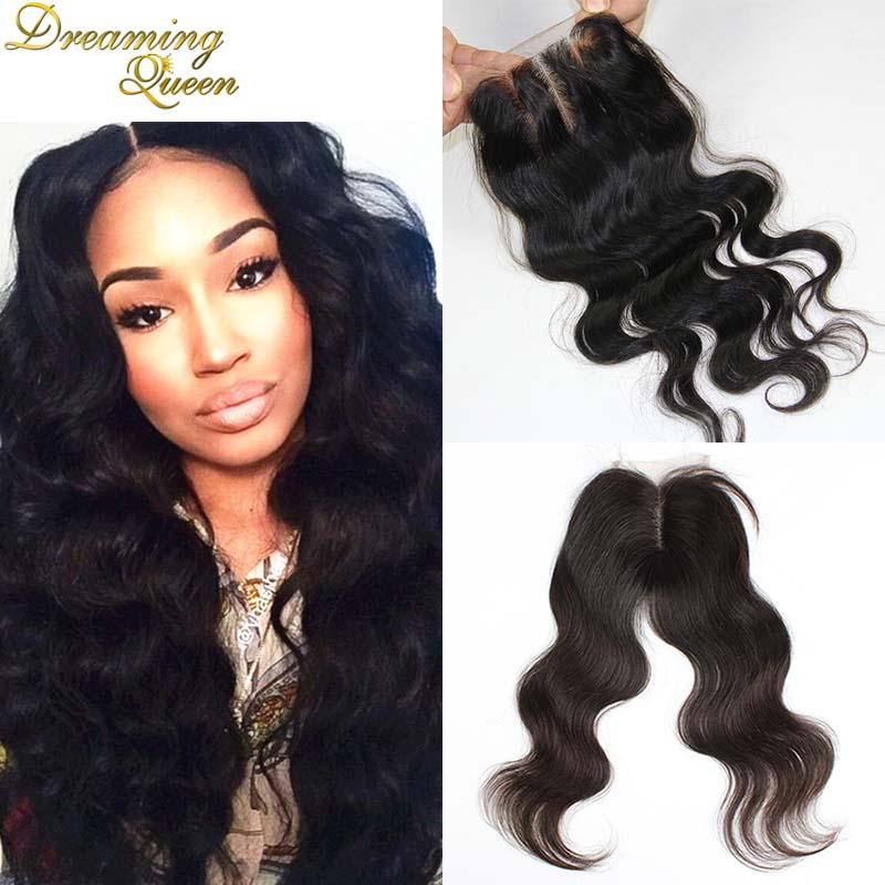 DHL Free Shipping Brazilian Body Wave Lace Closure Free