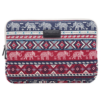 LISEN Laptop Sleeve Case 15 Inch Computer Bag Notebook For Ipad Tablet For MacBook Red Elephant