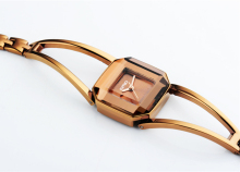 Square Skeleton Bracelet Rose Gold