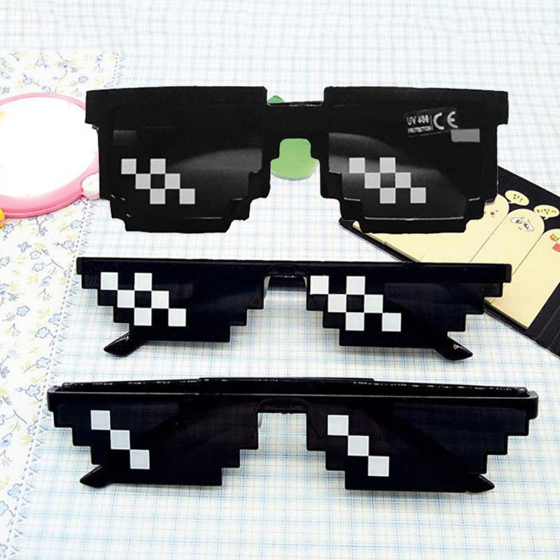 Thug Life With IT Deal Sunglasses 1PC Eye Glasses Cool Men Fashion Eyewear 8 Bit Pixel Unisex Black in Women 39 s Sunglasses from Apparel Accessories