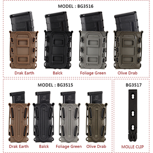 Image 5 - IDOGEAR US army Magazine Pouches Military Fastmag Belt Clip plastic molle pouch bag 9mm softshell G code Pistol Mag Carrier tall