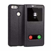 CYBORIS For Huawei Honor 7X Case Genuine Real Cow Leather Case For Honor 7 X Funda