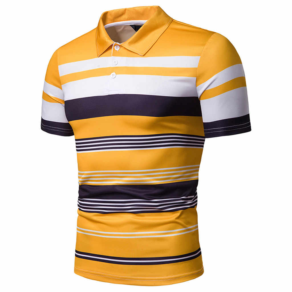 CHAMSGEND Shirt Men's Summer Shirts Fashion Short Sleeve Stripe Painting Large Size Casual Turn-down Collar Musle Shirt 7.FEB.23