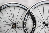 700C Road Bicycle Aluminium Alloy Brake Wheels Clincher 3K Glossy Carbon Alloy Rim 38mm 50mm 60mm