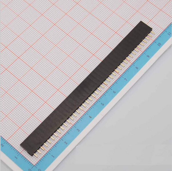 Free Shipping Female Pin Header Strip 10pcs 40 Pin 2 54 mm Single Row Female Pin