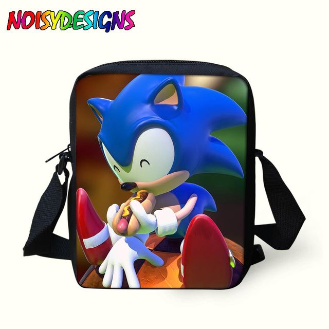 mochila sonic the hedgehog Messebger Bag Kids in School Bags Boys Girls  Mini Crossbody Bag Men 465a216da0fd3