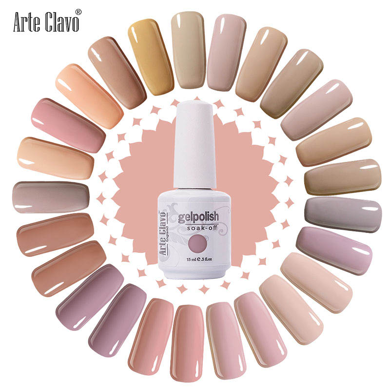 Newest Nail Polish Arte Clavo 15ml Salon Nude Color