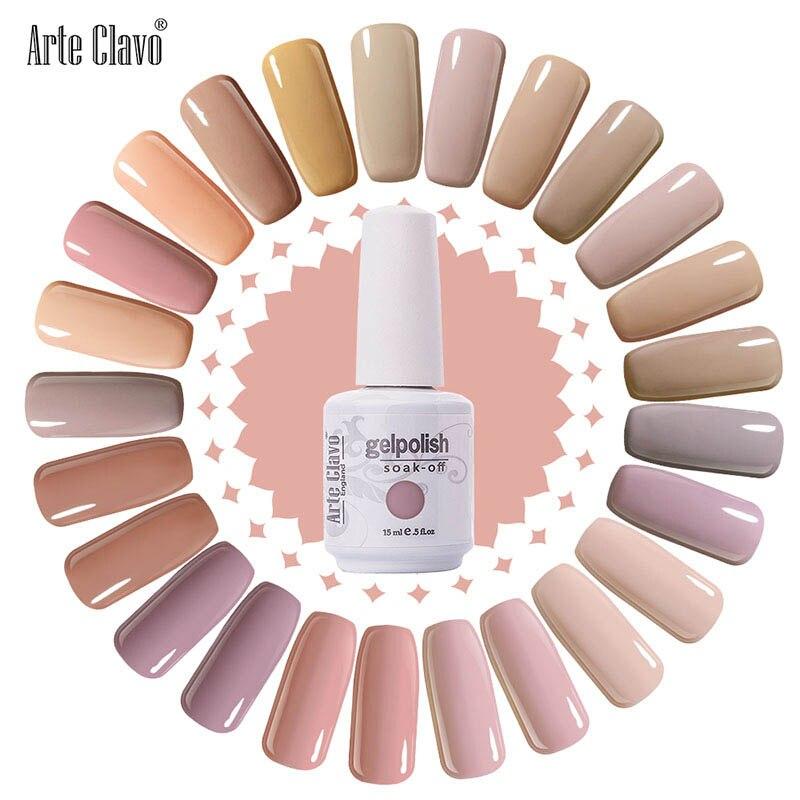 Newest Nail Polish Arte Clavo 15ml Salon Nude Color Led Nail Gel Polish Long Lasting UV Gel Nail Varnish Dry With Led Lamp