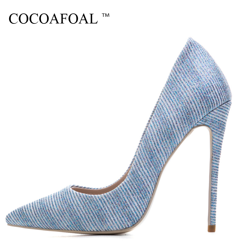 COCOAFOAL Woman Gold High Heels Shoes Stiletto Plus Size 33 43 44 45 Blue Silver Wedding Pumps Pointed Toe Sexy Valentine Shoes COCOAFOAL Woman Gold High Heels Shoes Stiletto Plus Size 33 43 44 45 Blue Silver Wedding Pumps Pointed Toe Sexy Valentine Shoes