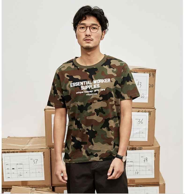 Xiaomi MITOWNLIFE camuflagem dos homens Clássicos Da Moda em torno do pescoço camisa de manga Curta Confortável Verão camisola de algodão casa Inteligente
