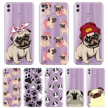 Pug Bulldog Back Cover For Huawei Honor 10 9 8 8X MAX Soft Phone Case Silicone For Huawei Honor 7 8 9 10 Lite 7S 7X 7A 7C Pro(China)