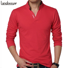 HOT SELL 2017 New Fashion Brand Men Clothes Solid Color Long Sleeve Slim Fit T Shirt Men Cotton T-Shirt Casual T Shirts 4XL 5XL