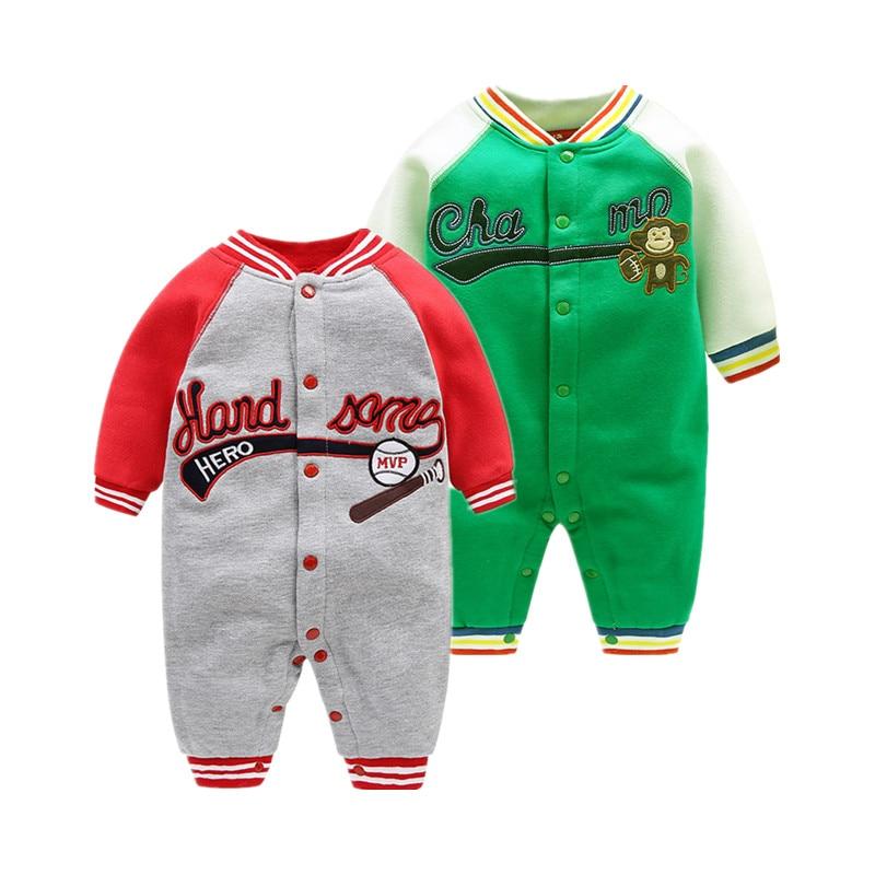 2018 նոր մարզական ոճով տղաների հագուստ 0-24M մանկական ռոմպեր Ժամանցի հագուստի մանկական հագուստով Չինաստան ներկրում էին մանկական հագուստ աղջկա համար
