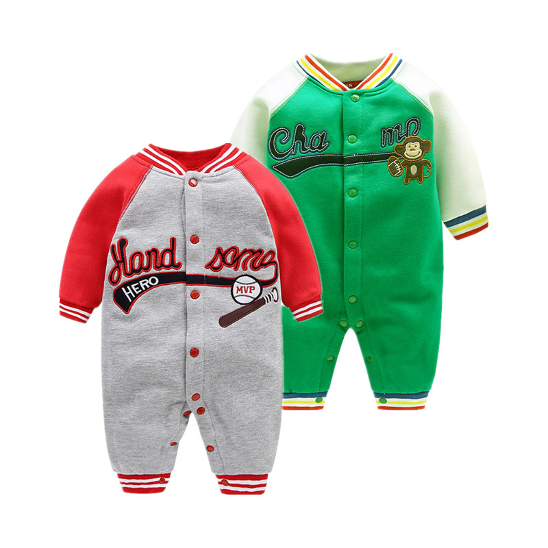 2018 new sport style boy clothes 0-24M baby rompers Leisure