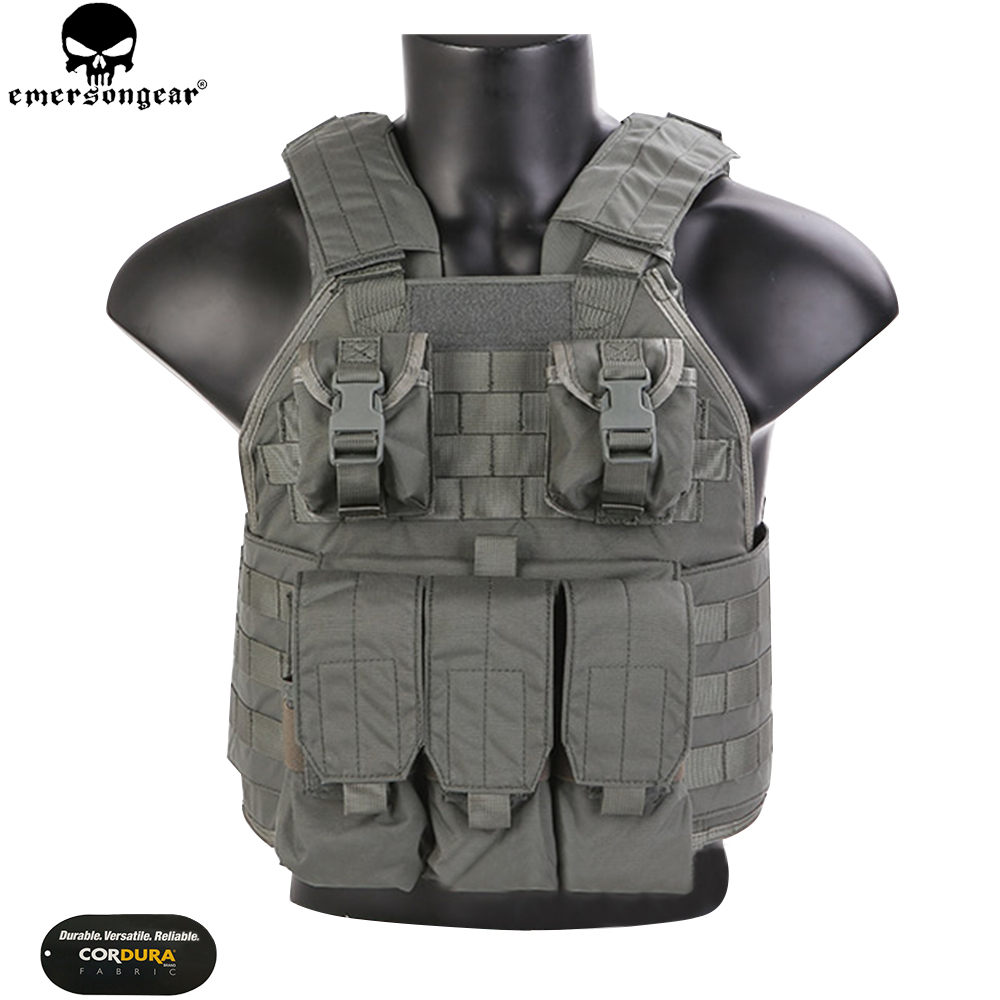 EMERSONGEAR SPC Tactical Vest Wargame Army Military Hunting Vest with Panels emerson Vest FG EM7320