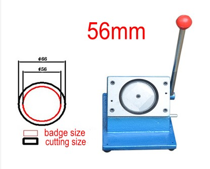 56mm badge making circle cutter round shape paper cutting machine badge machine suppliers 1 1 4 32mm badge machine with 1000set pin buttons circle cutter button making machine pack
