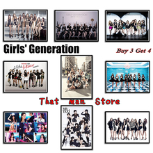 High quality Printing Girl's Generation K-pop Beauty Wall Stickers White Coated Paper Posters Home Decoration 42*30cm