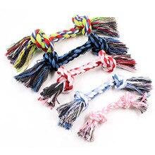 1 шт домашние животные товары для животных, собак, щенков, хлопковых жевательных узлов, игрушка, прочная плетеная веревка, 18 см, Забавный инструмент(случайный цвет