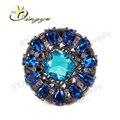 11.11 novo produto estoque anel de vidro Jar anel de vidro anel Brizal Warehuse anéis com preto banhado a ouro para homens ou mulheres XYR200788