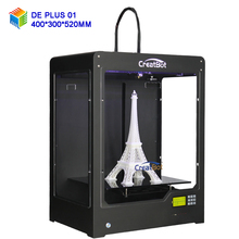 Free shipping CreatBot 3D Printer DE PLUS single extruder available Large size 400*300*520 mm 3d metal printer pvc printer China