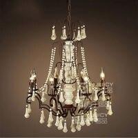 Vintage Retro Nordic E14 LED Wood Light Ceiling Lamp Droplight Chandelier Fixtures Home Bedroom Living Reading Room Decor Gift