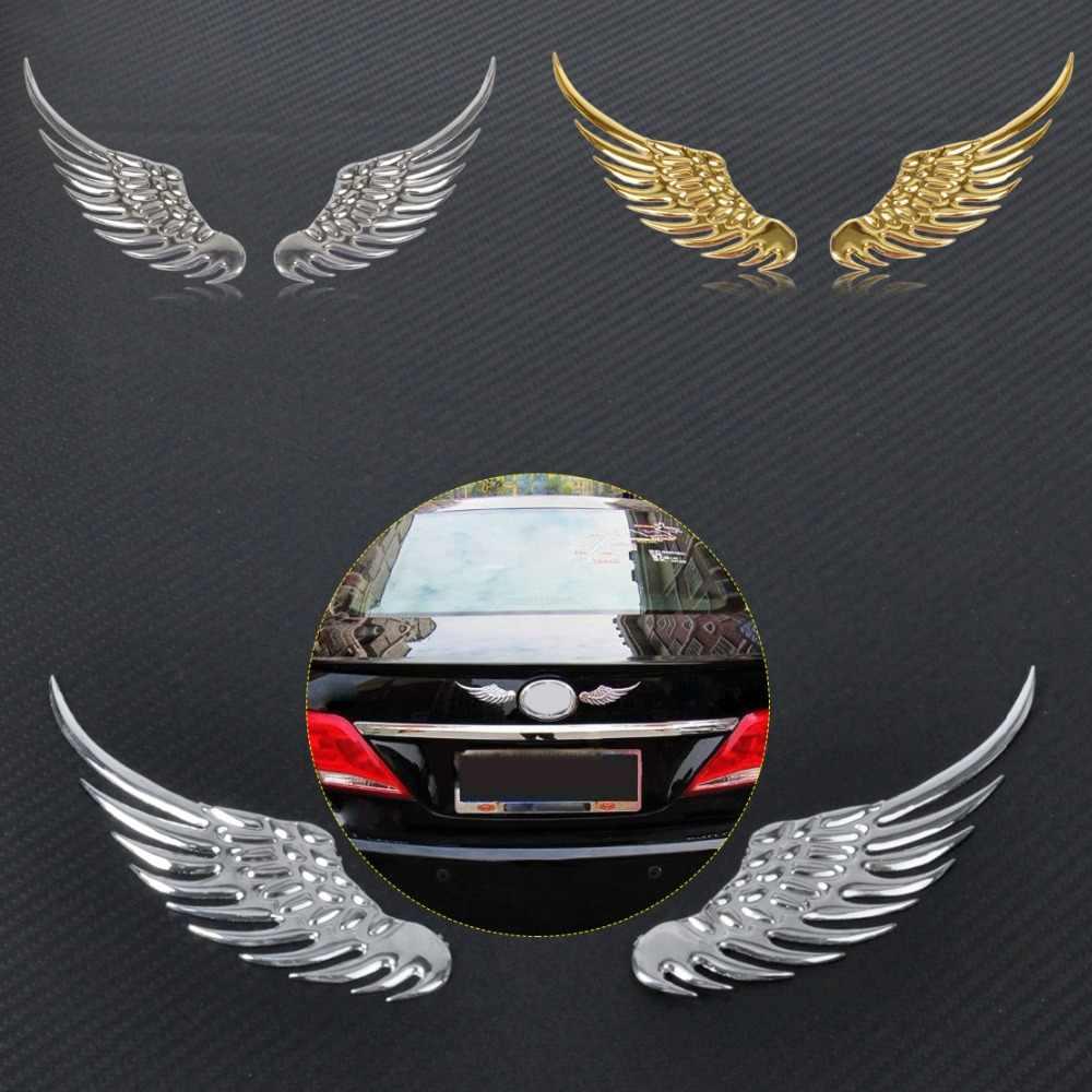 CITALL סגסוגת מתכת רכב קישוט 3D מלאך כנפי חלון פגוש גוף תג סמל מדבקת מדבקות עבור פורד טויוטה ניסן פולקסווגן kia
