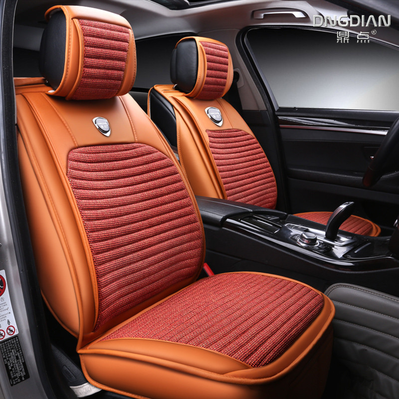 Linen car seat covers For Nissan Qashqai Note Murano March Teana Tiida Almera X-trai juke car accessories styling