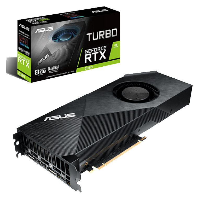 ASUS TURBO-RTX2080-8G TURBO-RTX 2080-8G Desktop Game Graphics Card GDDR6 Support 4 Screen Output