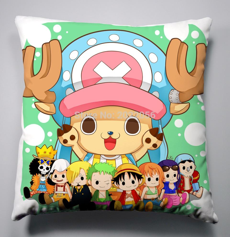 Anime Manga One Piece Pillow 40x40cm Pillow Case Cover Seat Bedding Cushion 004
